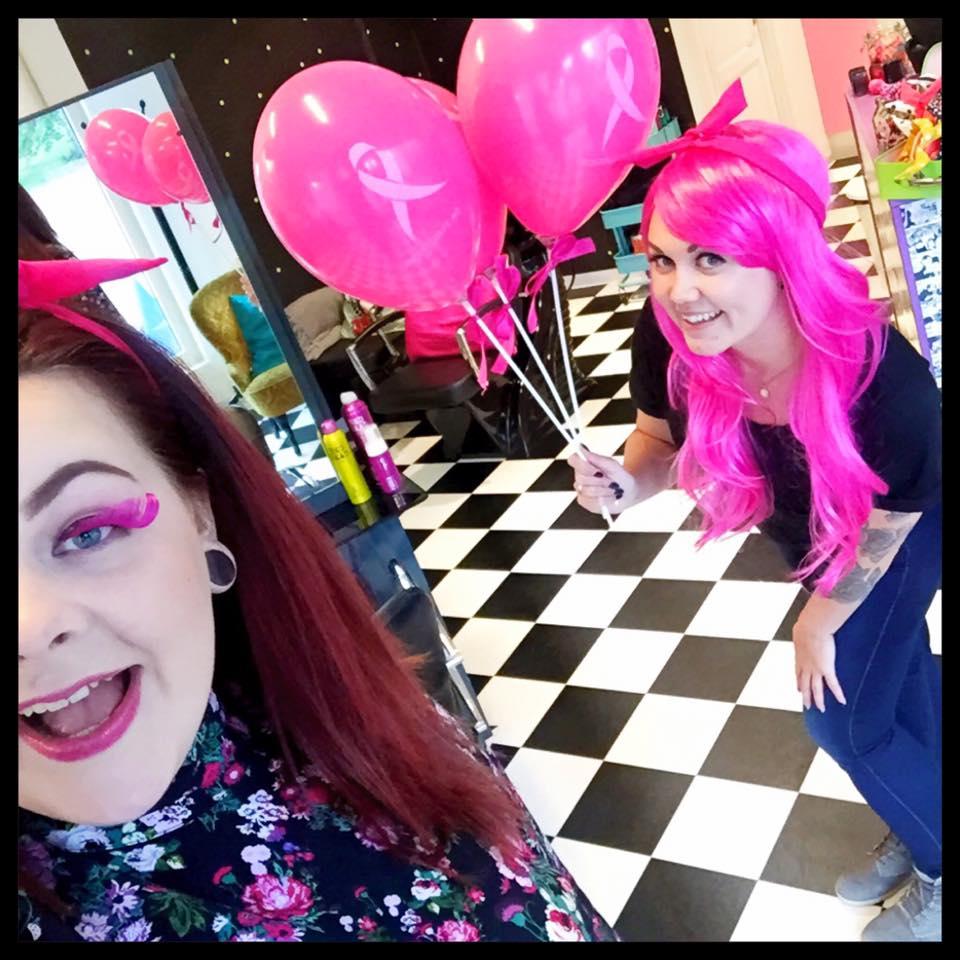 Rosa stripe for rosa sløyfe